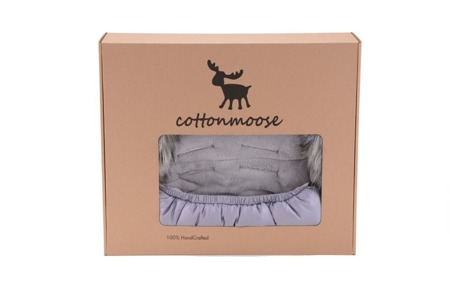 COTTONMOOSE Śpiworek Mini Moose - róż/szary